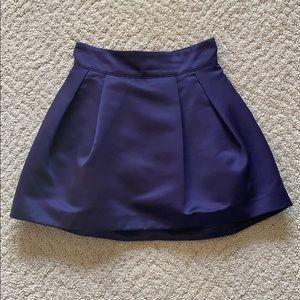 Sz 2 H&M Purple Bubble Mini Skirt